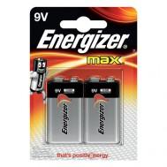 2 Piles 9V 6LR61 ENERGIZER Max