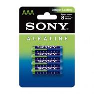 4 Piles Alkalines AAA LR03 Sony