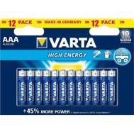 12 Piles AAA 4903 VARTA High Energy