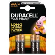4 Piles AAA MN2400 DURACELL Plus Power