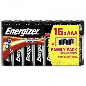 16 Piles AAA LR03 Alkaline Power ENERGIZER