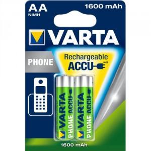 2 Piles AA phone 1600 mAh 58399 VARTA