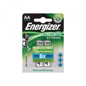 2 Piles AA 2300mAh HR6 Extreme Energizer