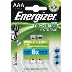 2 Piles AAA 800mAh HR03 Extreme ENERGIZER