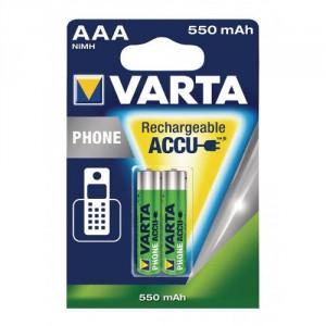 2 Piles AAA phone 550mAh 58397 VARTA