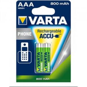 2 Piles AAA phone 800mAh 58398 VARTA