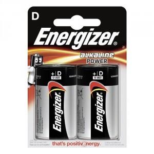 2 Piles D LR20 Alkaline Power ENERGIZER
