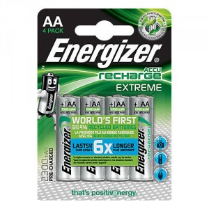 4 Piles AA 2300mAh HR6 Extreme Energizer