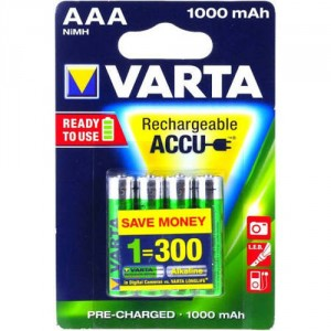 4 Piles AAA 1000mAh 5703 Ready2Use VARTA