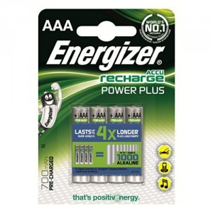 4 Piles AAA 700 mAh HR03 Power Plus ENERGIZER