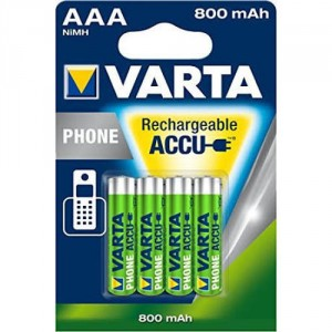 4 Piles AAA 800mAh 56703 Ready2Use VARTA