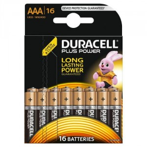 16 Piles AAA MN2400 DURACELL Plus Power