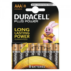 8 Piles AAA MN2400 DURACELL Plus Power