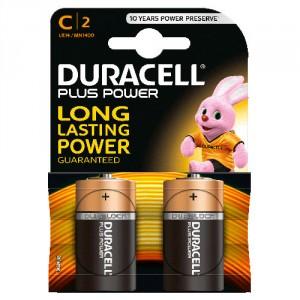 2 Piles 1,5V MN1400 C DURACELL Plus Power