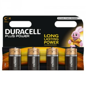 4 Piles 1,5 MN1400 C DURACELL Plus Power