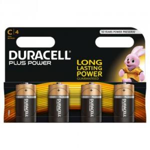 4 Piles 1,5 MN1400 C DURACELL Plus Power