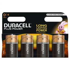 4 Piles 1.5 MN1300 D DURACELL Plus Power