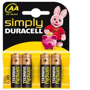4 Piles AA MN1500 DURACELL Simply