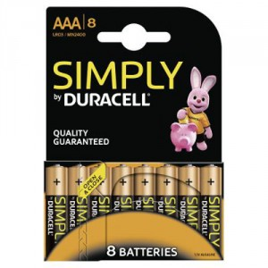 8 Piles AAA MN2400 DURACELL Simply