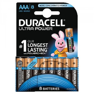 8 Piles AAA MX2400 DURACELL Ultra Power