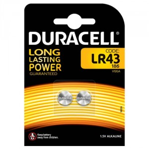 2 Piles boutons LR43 1,5 V Duracell