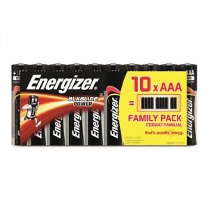 10 Piles AAA LR03 Alkaline Power ENERGIZER