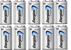 10 Piles 9V L522 Ultimate Lithium ENERGIZER
