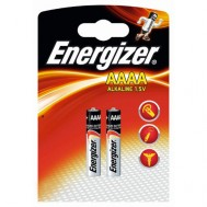 2 Piles AAAA LR61/E96 Alkaline ENERGIZER