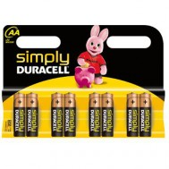 8 Piles AA MN1500 DURACELL Simply