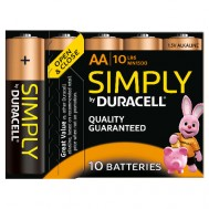 10 Piles AA MN1500 DURACELL Simply