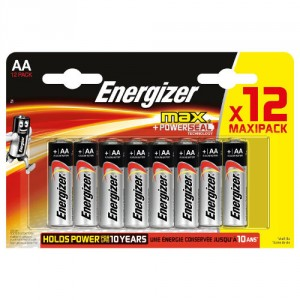12 Piles AA LR6 ENERGIZER Max
