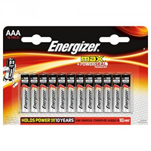 12 Piles AAA LR03 ENERGIZER Max