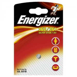1 Pile 362/361 Silver ENERGIZER