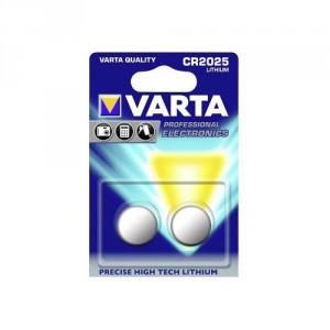 2 Piles CR2025 6025 Lithium Varta