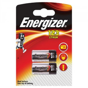 2 Piles 3V CR123A Lithium ENERGIZER
