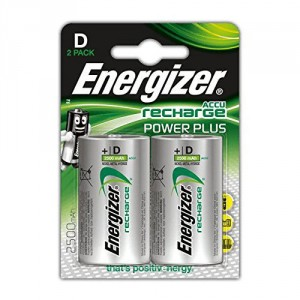 2 Piles D 2500mAh HR20 Power Plus ENERGIZER