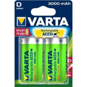 2 Piles D 3000mAh Ready2Use 56720 VARTA