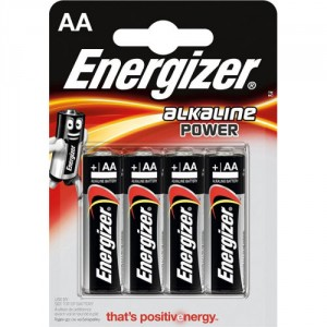 4 Piles AA LR6 Alkaline Power ENERGIZER