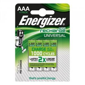 4 Piles AAA 500mAh HR6 Universal ENERGIZER