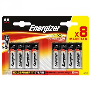 8 Piles AA LR6 ENERGIZER Max