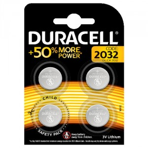 4 Pile DL 2032 Lithium DURACELL