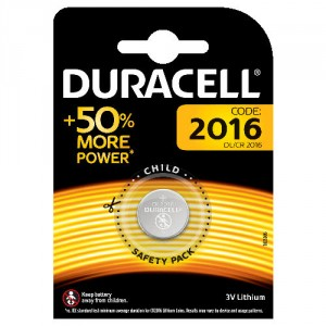 1 Pile DL 2016 LITHIUM DURACELL