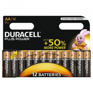 12 Piles AA MN1500 DURACELL Plus Power