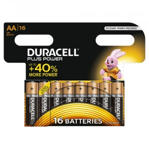 16 Piles AA MN1500 DURACELL Plus Power