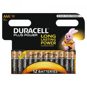 12 Piles AAA MN2400 DURACELL Plus Power