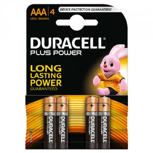 4 Piles AAA MN2400 DURACELL Plus Power