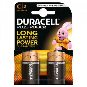2 Piles 1,5V MN1400 C DURACELL Plus Power