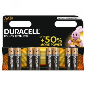 8 Piles AA MN1500 DURACELL Plus Power
