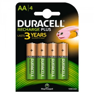 4 Piles AA 1300mAh Recharge Plus StayChar HR6 DURACELL