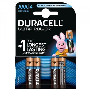 4 Piles AAA MX2400 DURACELL Ultra Power
